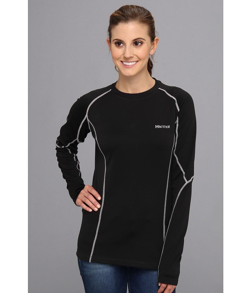 Marmot - ThermalClime Pro L/S Crew (Black) Women's T Shirt