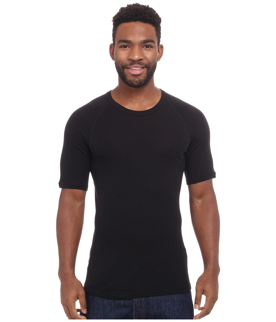 Icebreaker - Everyday Short Sleeve Crewe (Black) Men's Short Sleeve Pullover