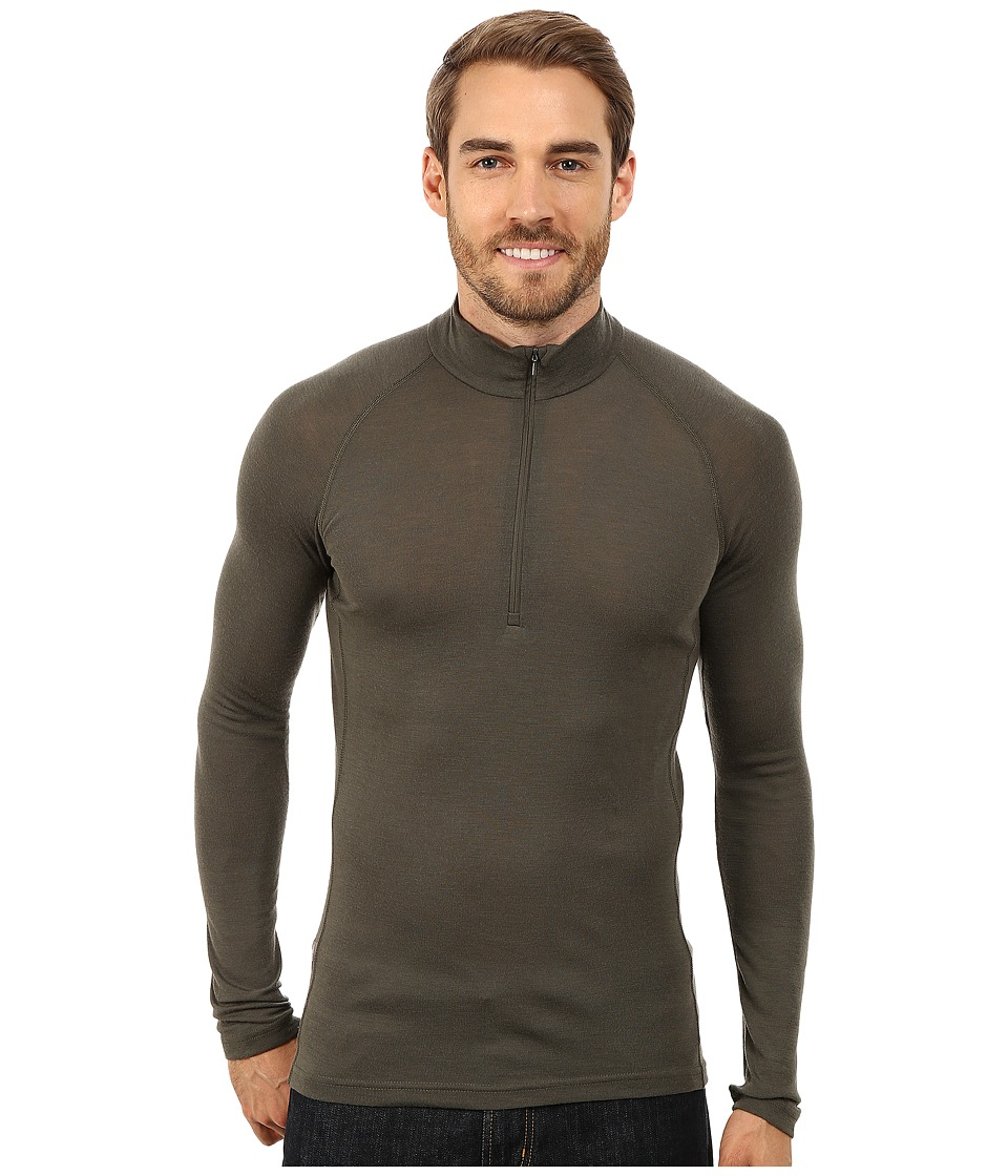 Icebreaker - Everyday Long Sleeve Zip (Cargo) Men's Long Sleeve Pullover