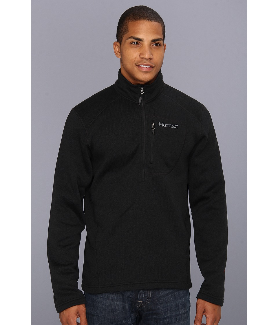 Marmot - Drop Line 1/2 Zip (Black) Men's Jacket