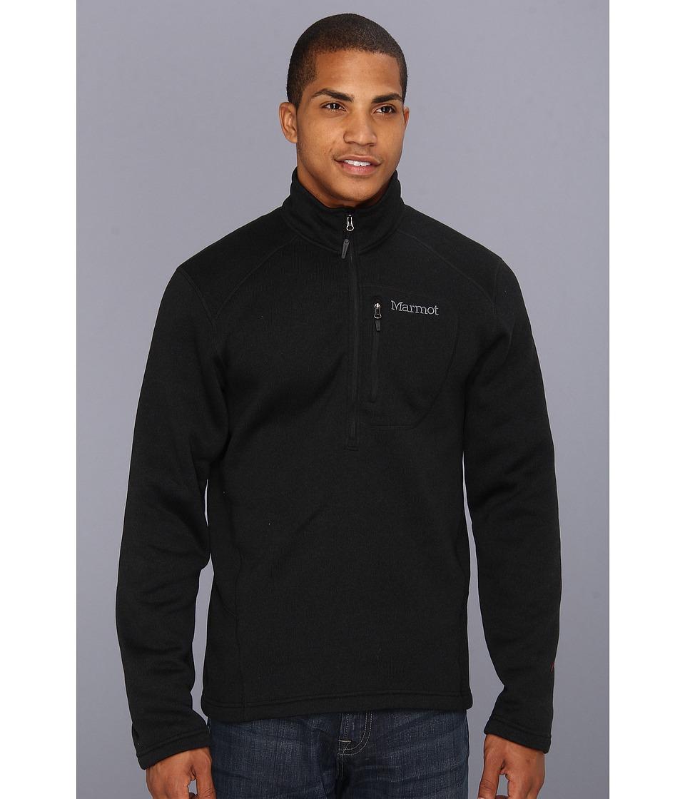 Marmot - Drop Line 1/2 Zip (Black) Men's Jacket