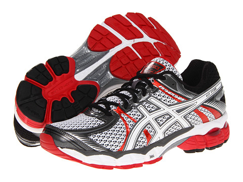 ASICS - GEL-Flux (Snow/White/Red Pepper) Men's Running Shoes