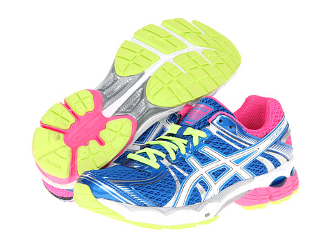 ASICS - GEL-Flux (Blue/White/Hot Pink) Women's Running Shoes