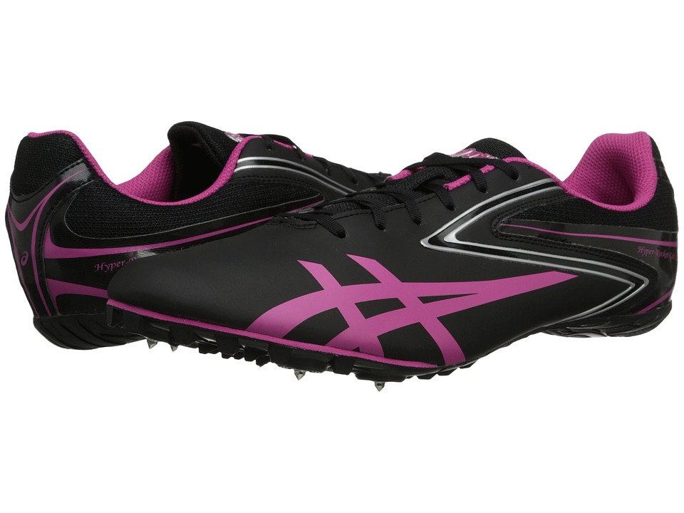 ASICS - Hyper-Rocket Girl SP 5 (Black/Raspberry/Silver) Women's Running Shoes