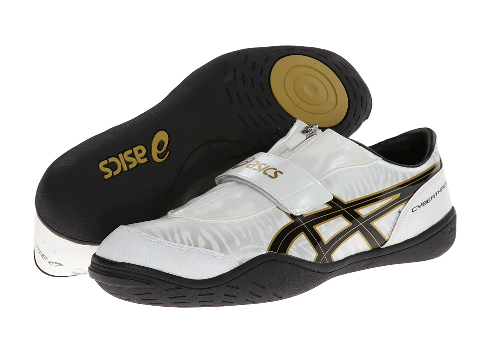 ASICS - Cyber Throw London (White/Black/Gold) Running Shoes