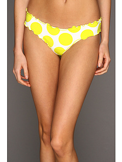 SALE! $14.99 - Save $43 on CA by Vitamin A Swimwear Rio Ruffle Scoop Bikini Bottom (Lemon Drops) Apparel - 74.16% OFF $58.00