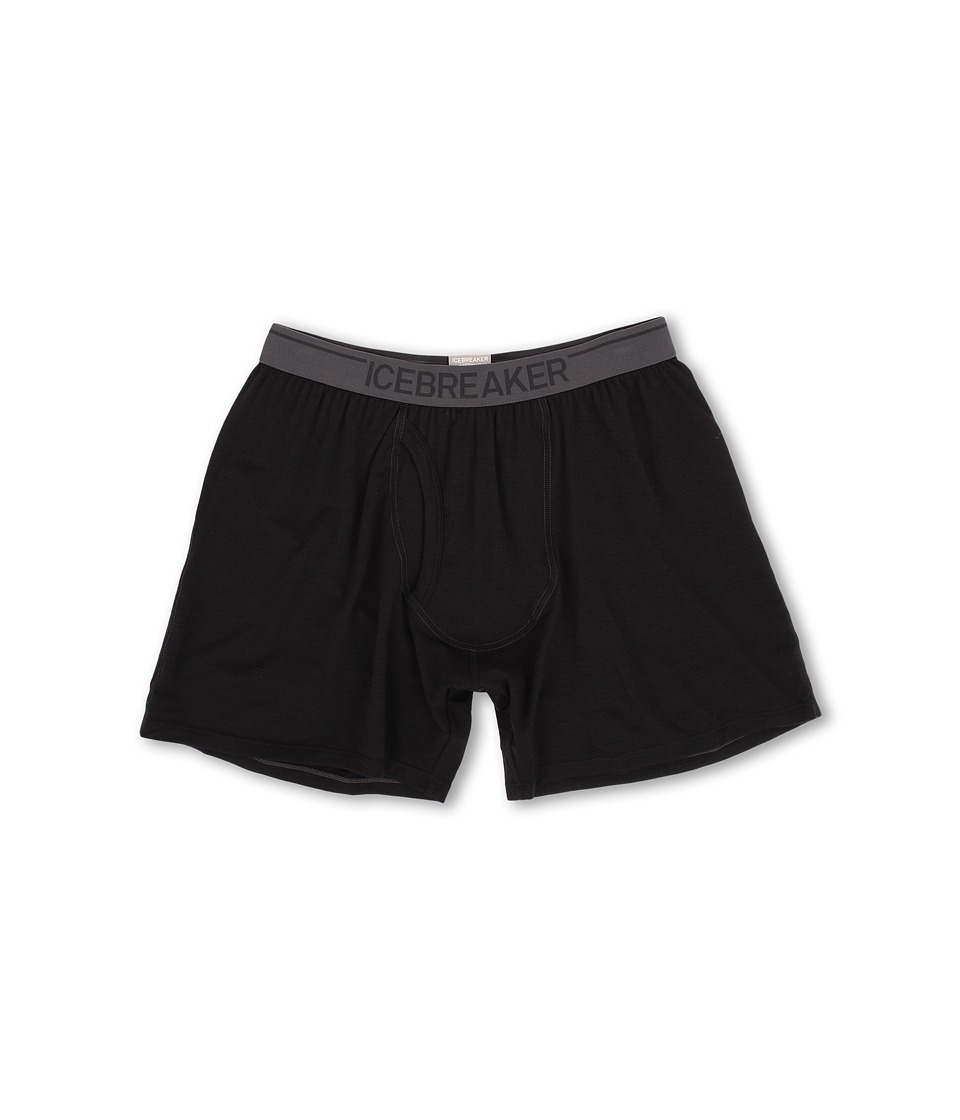 Icebreaker - Anatomica Relaxed Boxers w/ Fly (Black) Men's Underwear