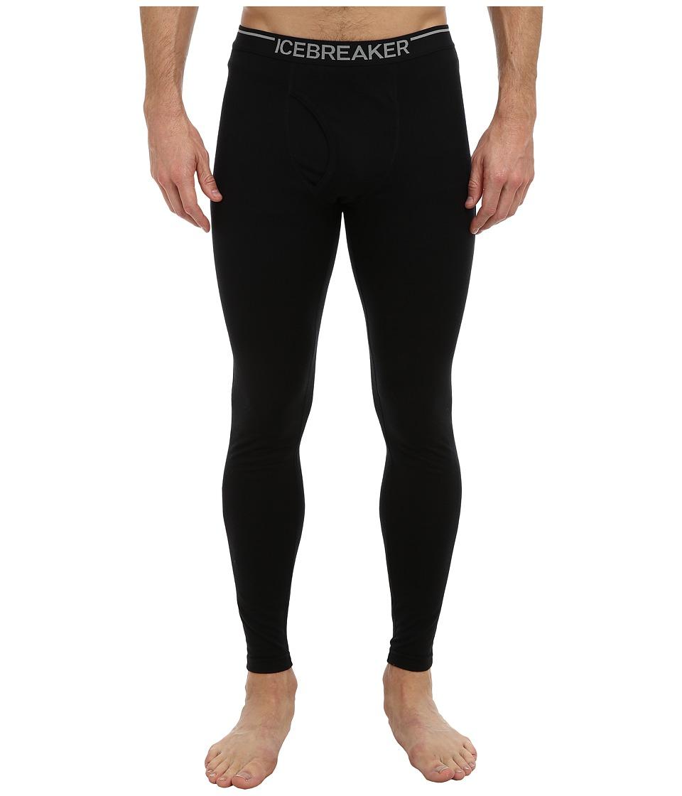 Icebreaker Oasis Mid-Weight Merino Leggings with Fly (Black) Men