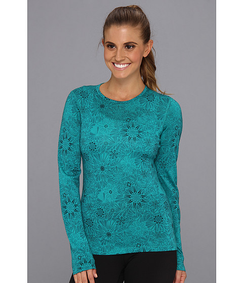 Icebreaker - Oasis Long Sleeve Crew Quartz (Mermaid) Women