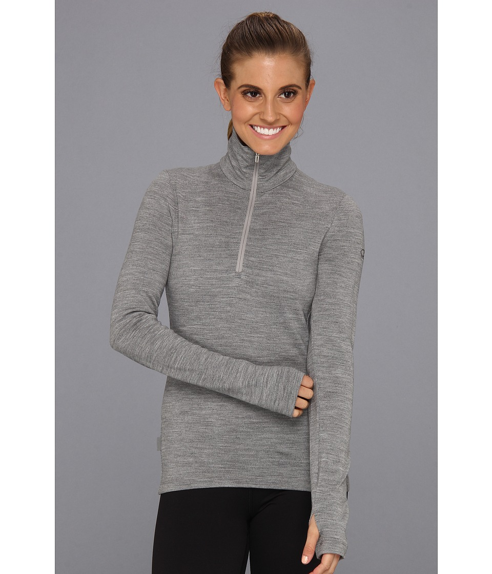 Icebreaker - Tech Top Long Sleeve Half Zip (Metro) Women's Long Sleeve Pullover