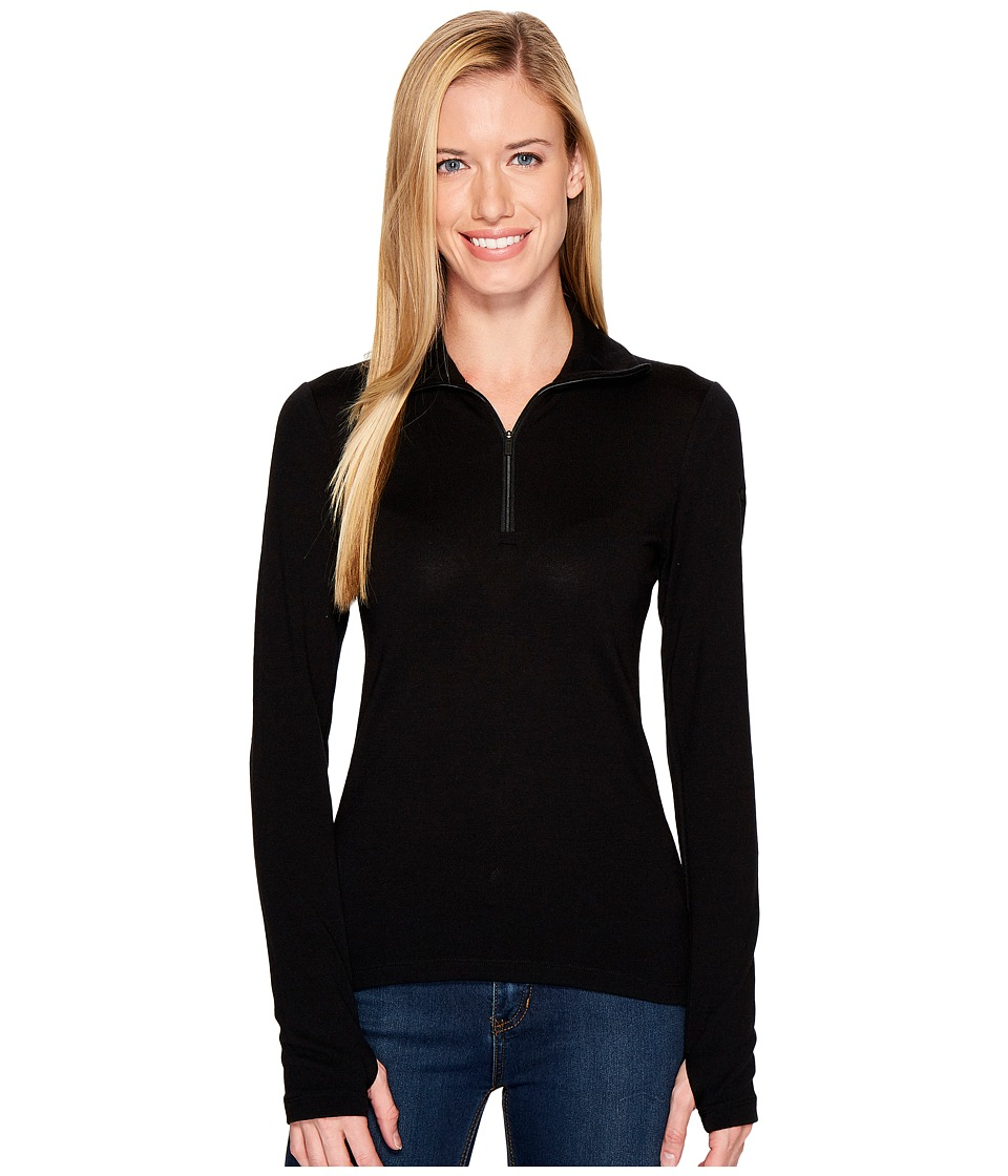 Icebreaker - Tech Top Long Sleeve Half Zip (Black) Women's Long Sleeve Pullover