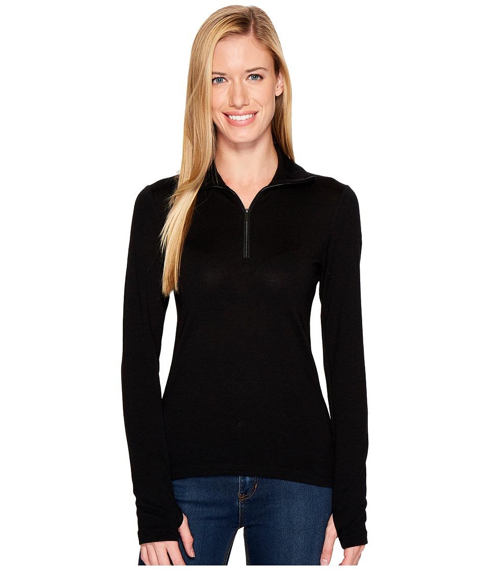 Icebreaker - Tech Top Long Sleeve Half Zip (Black) Women's Long Sleeve Pullover
