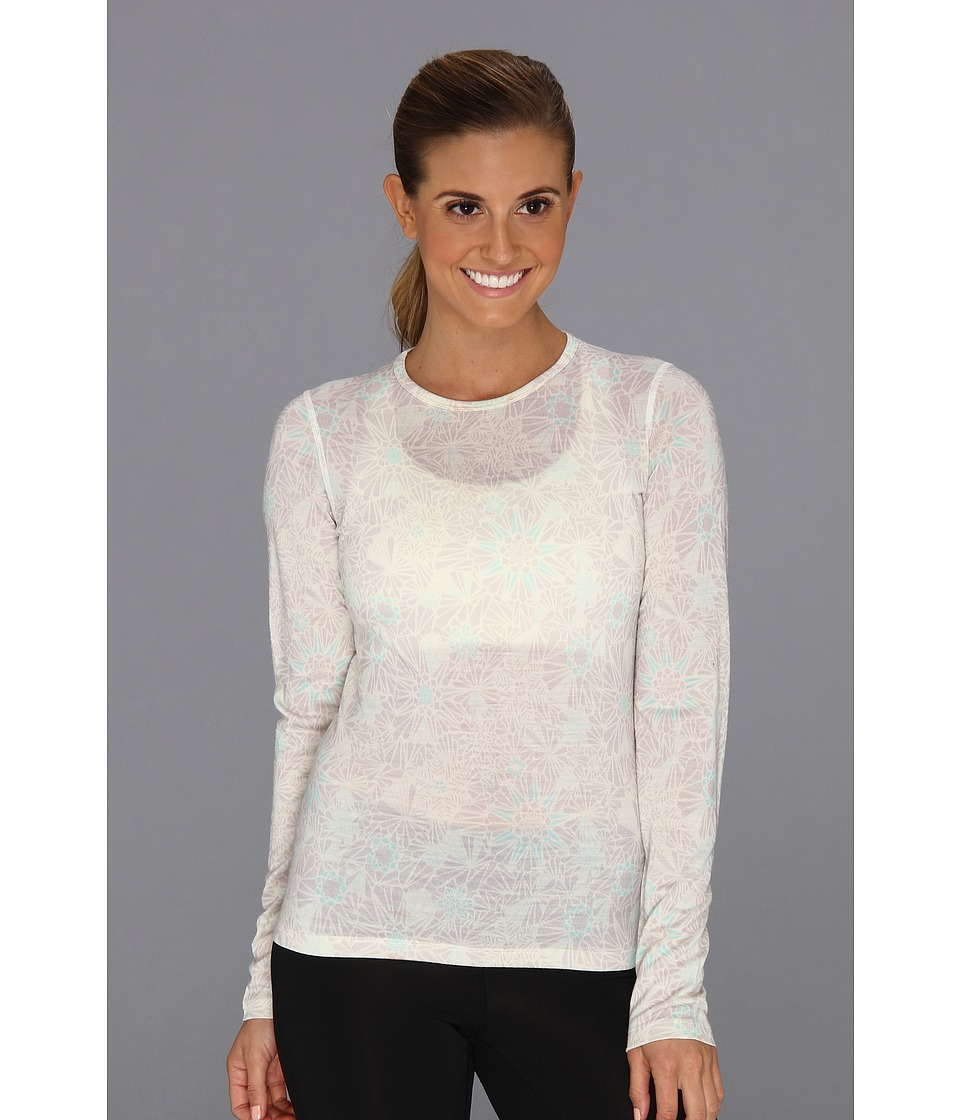 Icebreaker - Oasis Long Sleeve Crew Quartz (Snow) Women