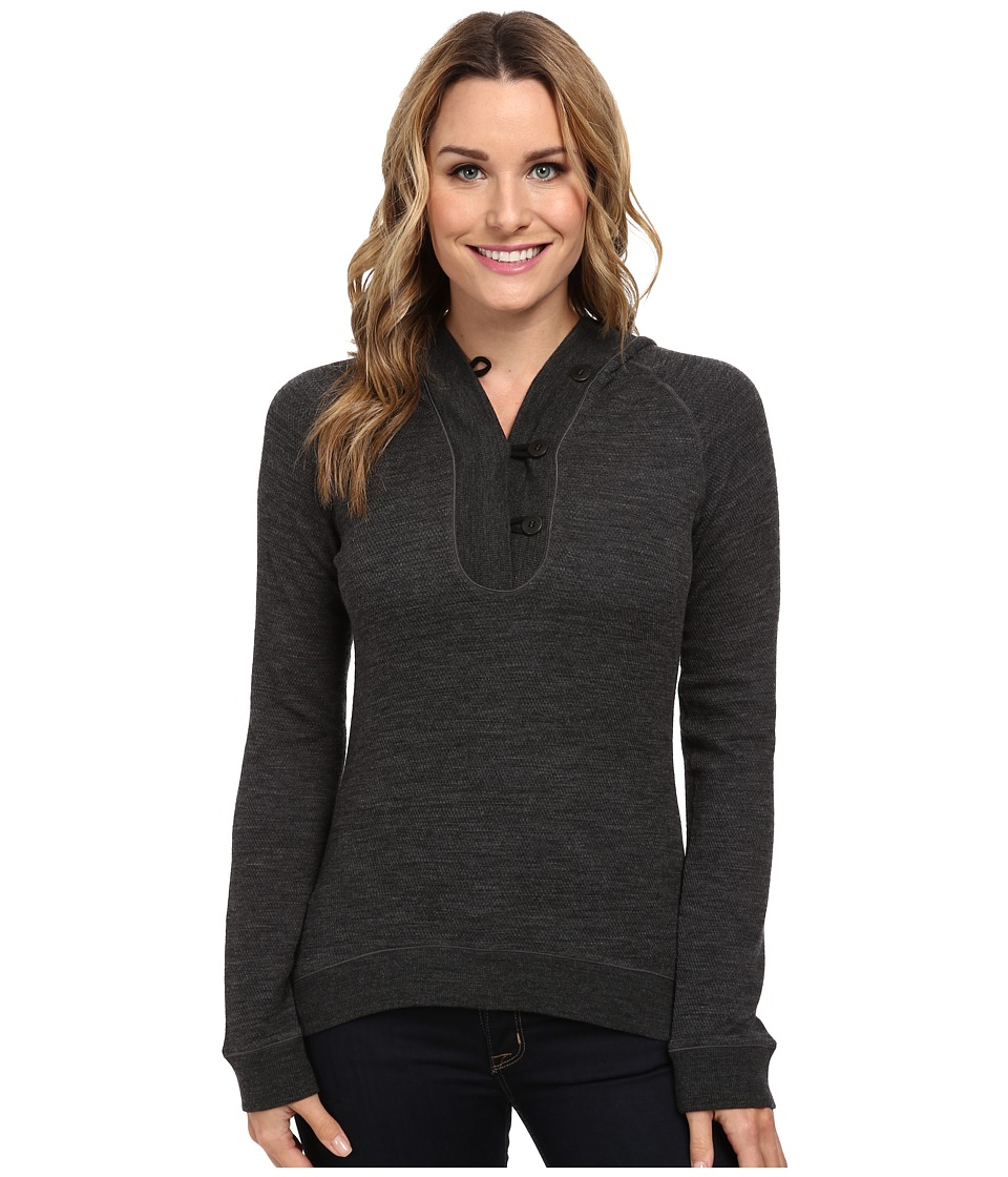 Icebreaker - Crave Long Sleeve Hood (Jet) Women's Long Sleeve Pullover