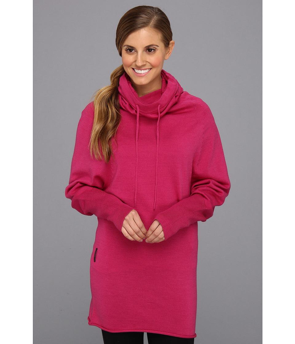 Icebreaker - Athena Long Sleeve Funnel (Magenta) Women's Sweater