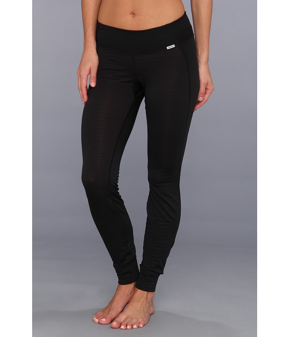 Patagonia - Capilene(r) 4 Expedition Weight Bottoms (Black) Women's Workout