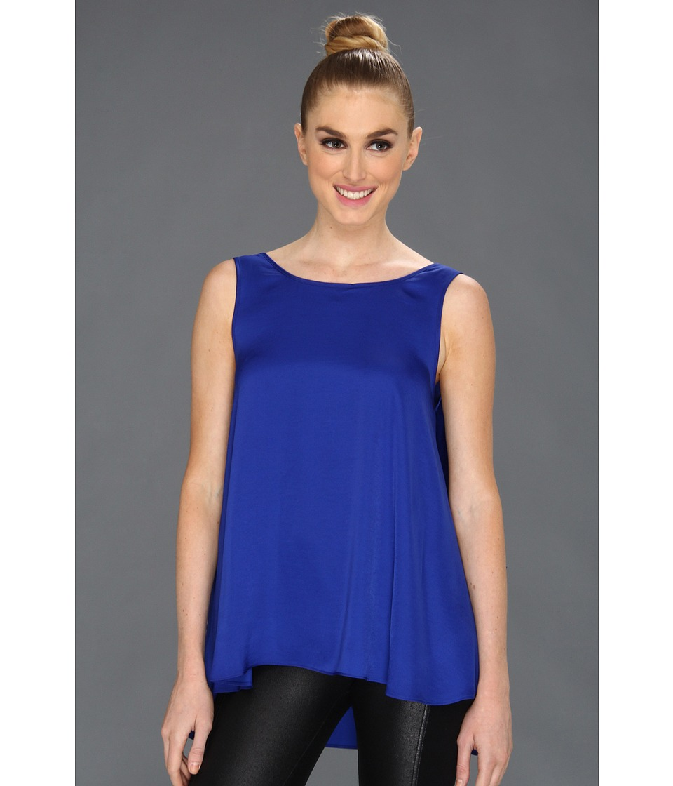 BCBGMAXAZRIA - Draped Back Top (Royal Blue) Women's Sleeveless