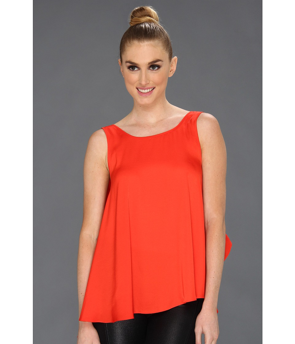 BCBGMAXAZRIA - Draped Back Top (Poppy) Women's Sleeveless