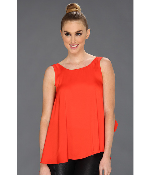 BCBGMAXAZRIA - Draped Back Top (Poppy) Women