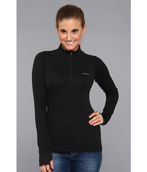 Columbia - Heavyweight 1/2 Zip (Black) Women's Long Sleeve Pullover