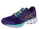 Reebok - ZigKick Alpha (Ultra Violet/Neon Orange/Emerald Sea/White)