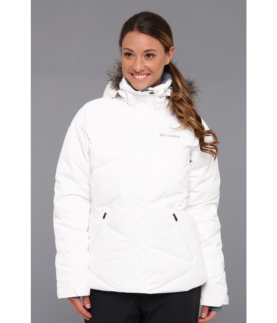 Columbia - Lay 'D' Down Jacket (White Satin) Women's Coat