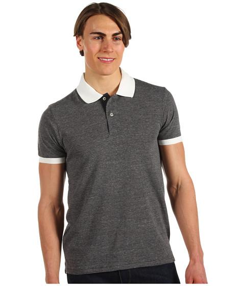 Alternative - Feeder Stripe Polo (Eco True Vintage Black) Men's Short Sleeve Pullover