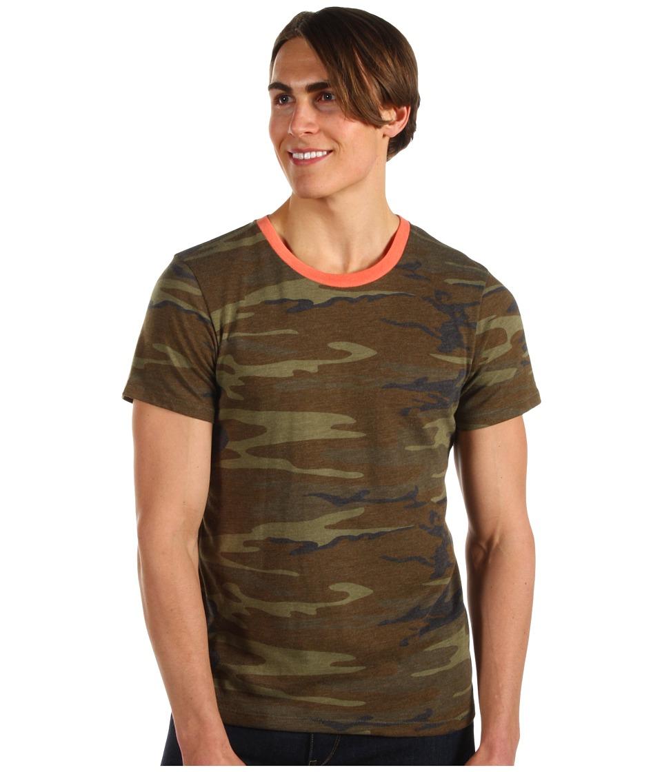 Alternative - Printed S/S Crew (Camo) Men's Short Sleeve Pullover