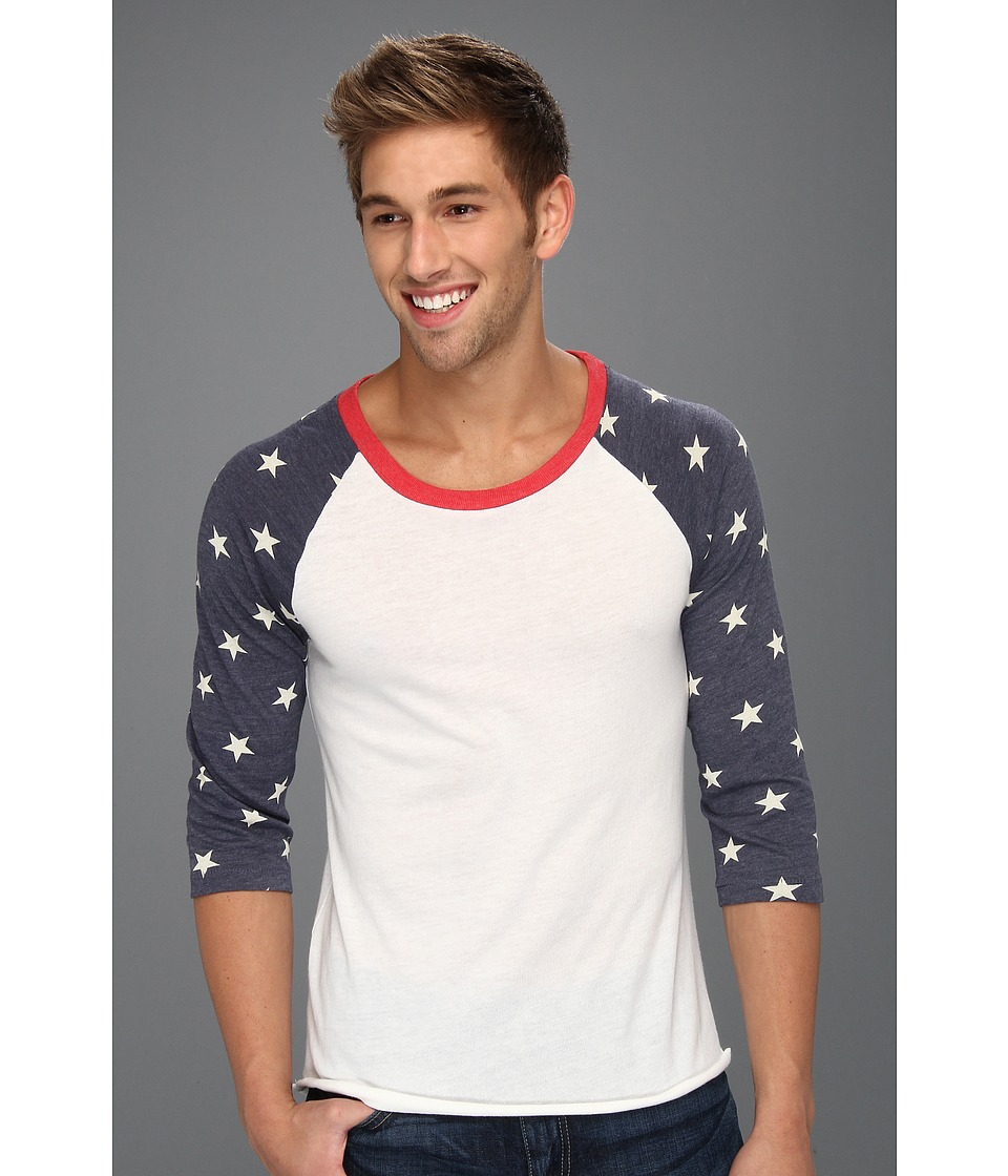 Alternative - Printed Baseball Tee (Stars) Men's Short Sleeve Pullover
