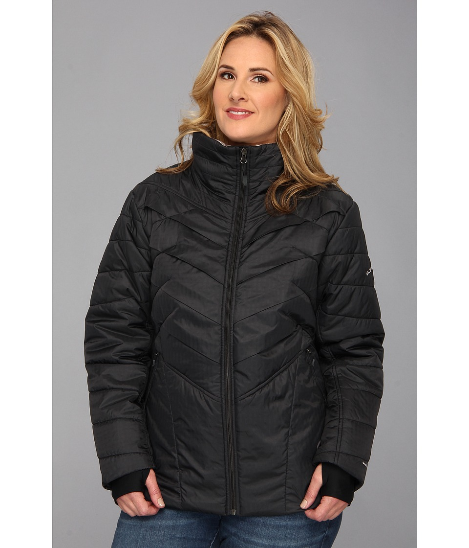 Columbia - Plus Size Kaleidaslope II Jacket (Black) Women's Coat