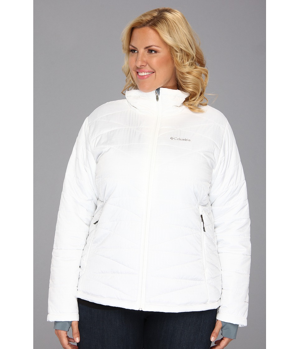 Columbia - Plus Size Mighty Lite III Jacket (White) Women's Coat