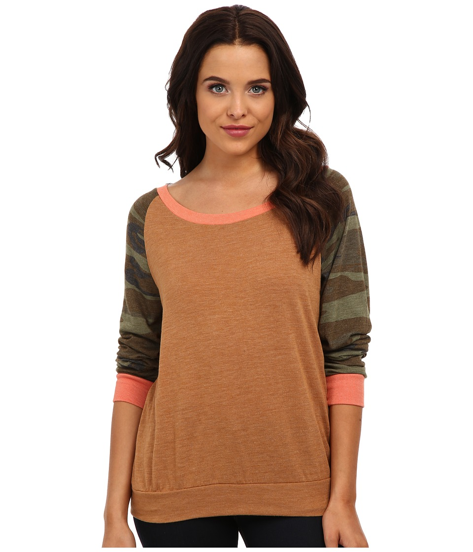 Alternative - Printed Slouchy Pullover (Camo) Women