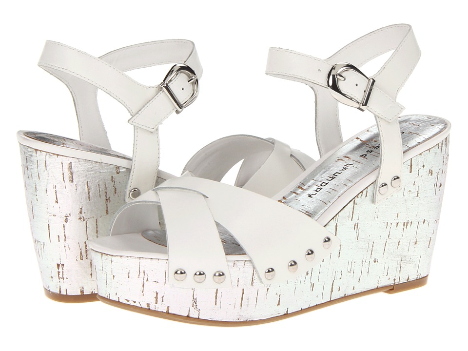 Chinese Laundry - Give It A Go (White Leather) Women's Wedge Shoes