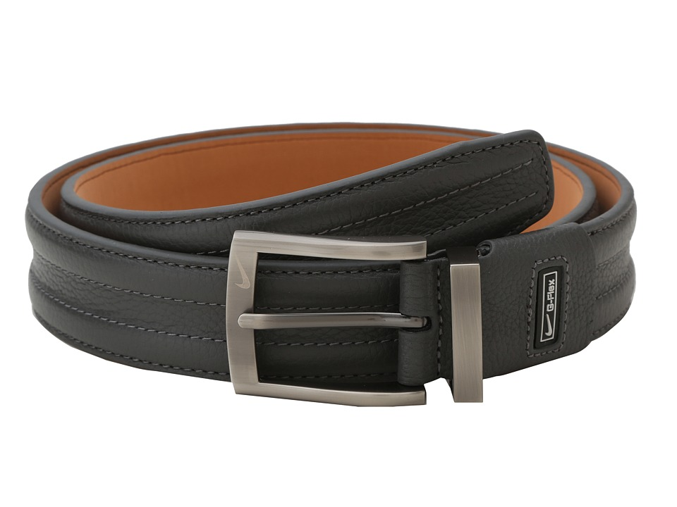 Nike - Tripunto G-Flex(r) Belt (Grey) Men's Belts