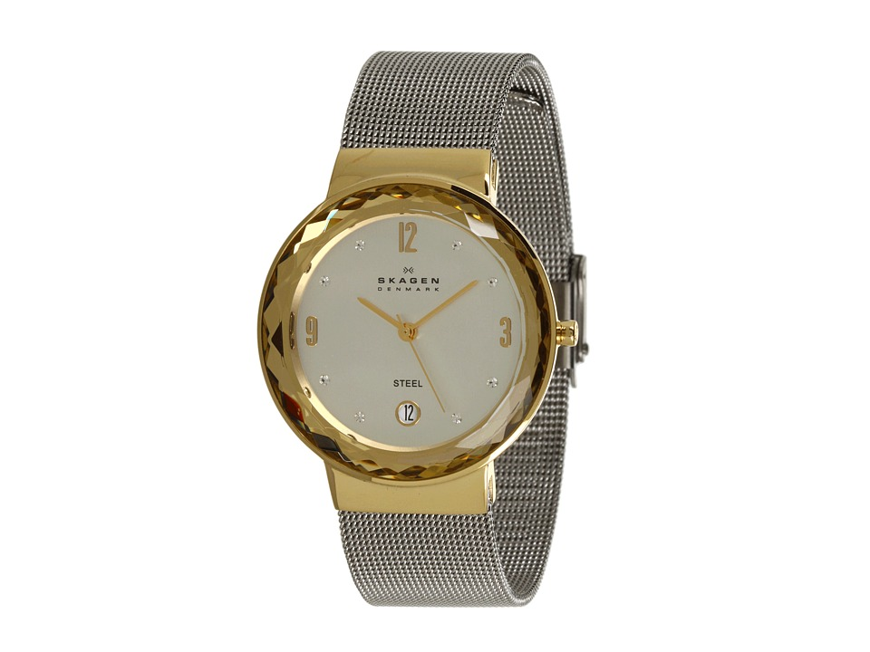 Skagen - SKW2002 Classic Two-Tone Mesh Watch (Two Tone) Analog Watches