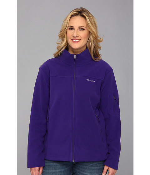 Columbia - Plus Size Fast Trek II Full Zip Fleece Jacket (Hyper Purple) Women