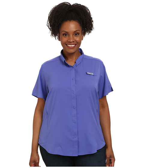Columbia - Plus Size Tamiami II S/S Shirt (Purple Lotus) Women's Short Sleeve Button Up
