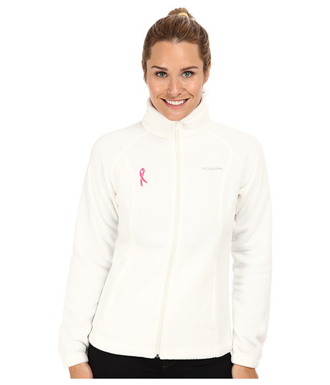 Columbia - Tested Tough In Pink Benton Springs Full Zip (Sea Salt) Women's Jacket