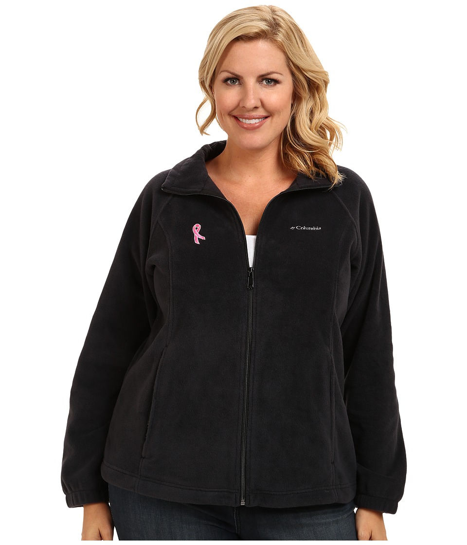 Columbia - Plus Size Tested Tough In Pink Benton Springs Full Zip (Black) Women's Coat