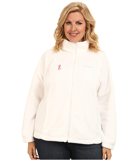 Columbia - Plus Size Tested Tough In Pink Benton Springs Full Zip (Sea Salt) Women's Coat