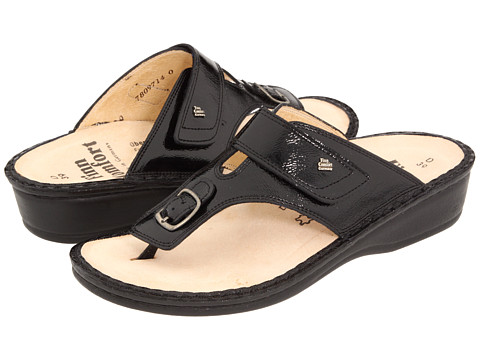 Finn Comfort - Phuket - 2533 (Black Patent Soft Footbed) Women's Sandals