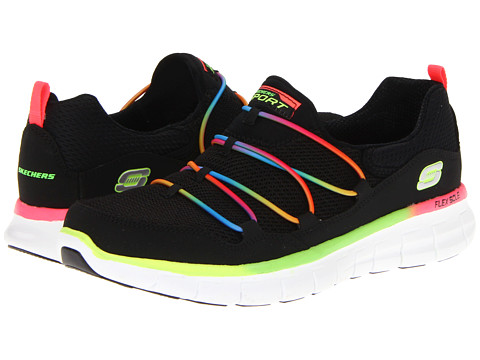 SKECHERS - Synergy - Loving Life (Black Multi) Women's Slip on Shoes
