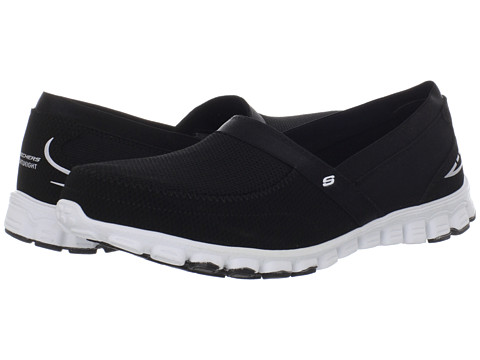 SKECHERS - EZ Flex - Take-It-Easy (Black/White) Women's Shoes