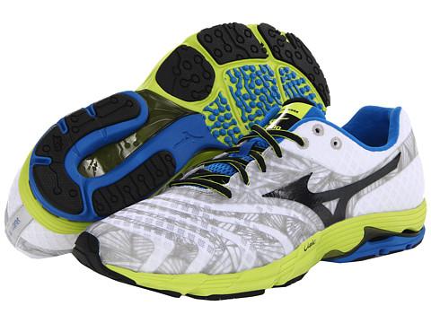 Mizuno - Wave Sayonara (White/Anthracite/Lime Punch) Men's Running Shoes