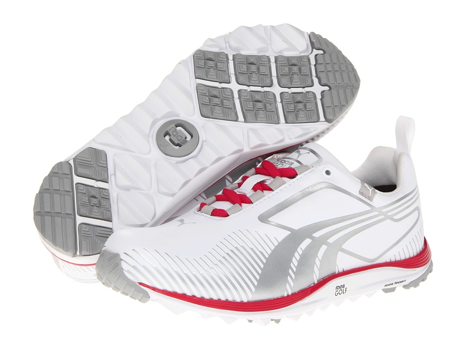 PUMA Golf - FAAS Lite (White/Silver/Virtual Pink) Women's Golf Shoes