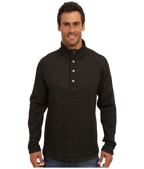 ExOfficio - Ruvido Snap Henley Sweater (Black) Men's Sweater