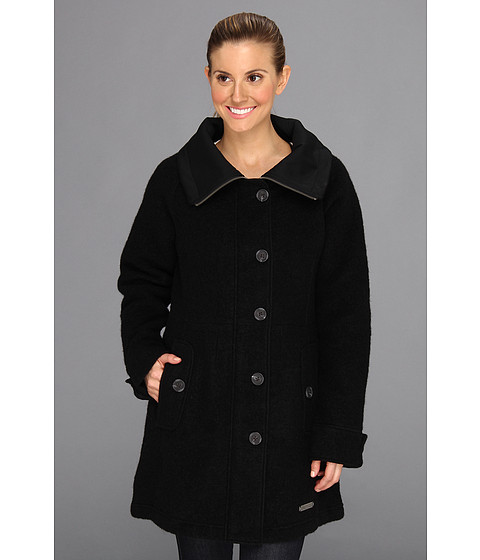 ExOfficio Medelton Trench (Black) Women's Coat