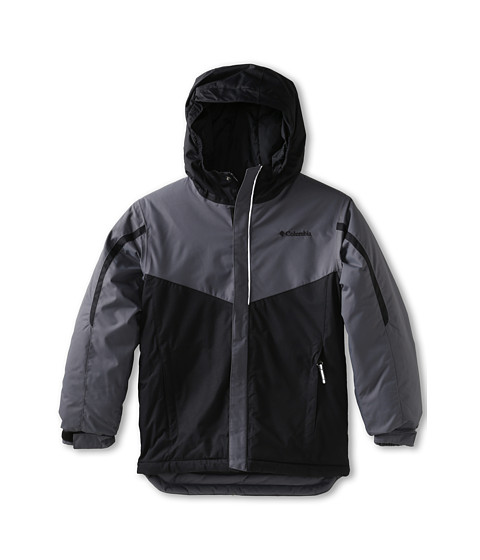 Columbia Kids - Stun Run Jacket (Little Kids/Big Kids) (Graphite/Black) Boy's Coat