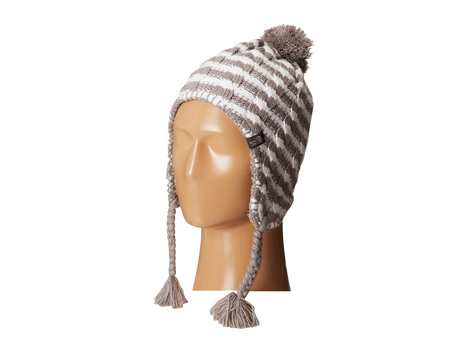 The North Face Kids - Fuzzy Earflap Beanie 13 (Big Kids) (Metallic Silver Stripe) Beanies
