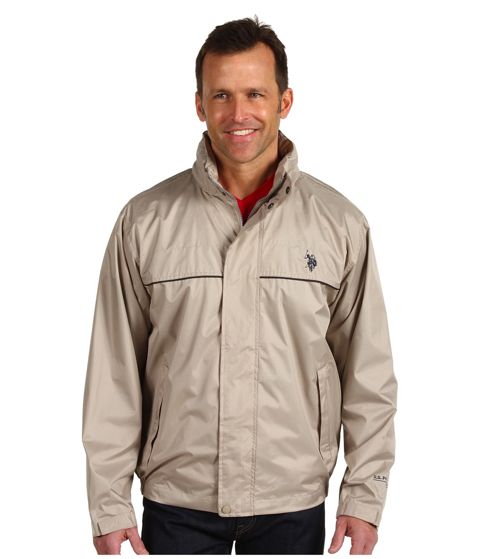 U.S. POLO ASSN. - Windbreaker with Piping (Thompson Khaki) Men